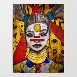 Meditating Warrior Poster