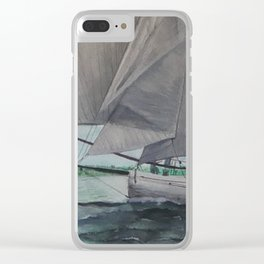 Tally Ho - A yacht worth saving Clear iPhone Case