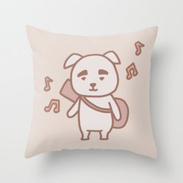 Dog K.K. | Animal Villager | illustration Throw Pillow
