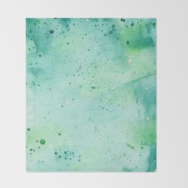 Blue and Green Abstract Throw Blanket