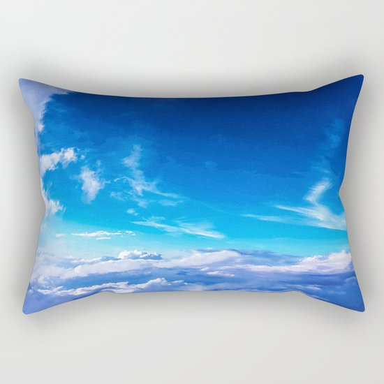Above the clouds sky is always blue Rectangular Pillow