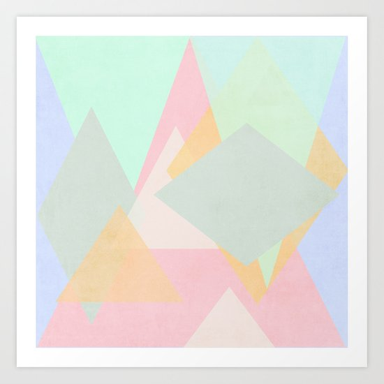 spring pastel abstract pattern design Art Print