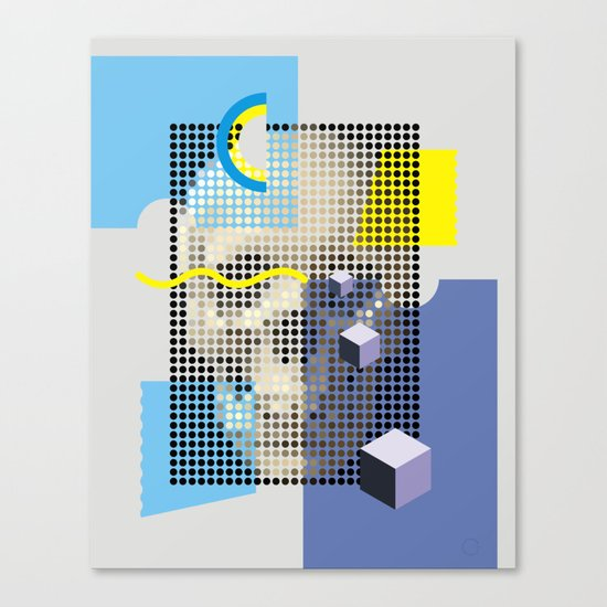 Compo with Skull Canvas Print