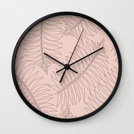 Leaf Pink Wall Clock