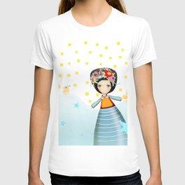 Frida and Ducks Yellow Polka Dots T-shirt