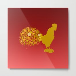 2017 Chinese Lunar New Year Of The Rooster Metal Print