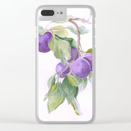 Plums Clear iPhone Case