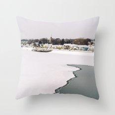 Frozen Ottawa River Throw Pillow