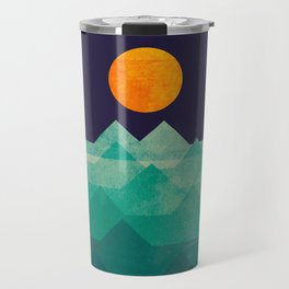 The ocean, the sea, the wave - night scene Travel Mug