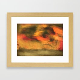 Stormy print Framed Art Print