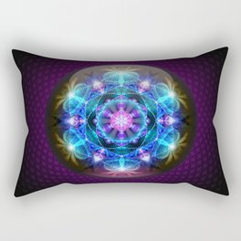 Fibonacci Flower Mandala Rectangular Pillow