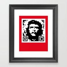 QR- Che Framed Art Print