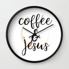 Coffee and Jesus Wall Clock