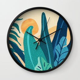 Afternoon Landscape  - Vertical Retro Palette Wall Clock