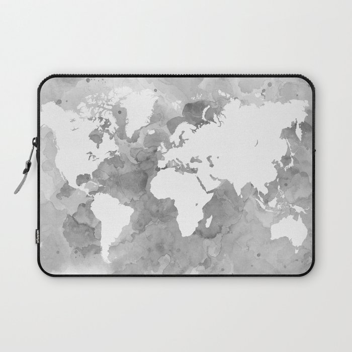 Design 49 grayscale world map laptop sleeve by artbylucie society6 design 49 grayscale world map laptop sleeve gumiabroncs Image collections