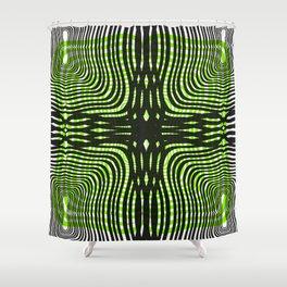 Zebra gone mad Shower Curtain