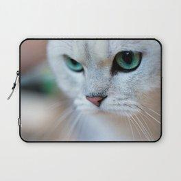 British shorthair silver shaded chinchilla cat Laptop Sleeve