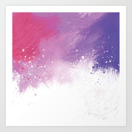 Paint Brushing Art Print
