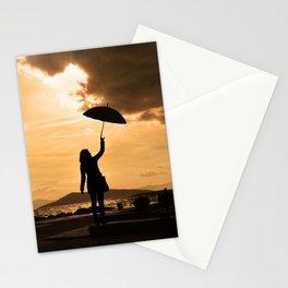 Rainy port Stationery Cards