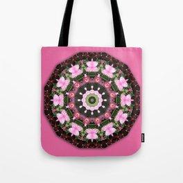 Pink blossoms, Flower Mandala, floral mandala-style Tote Bag