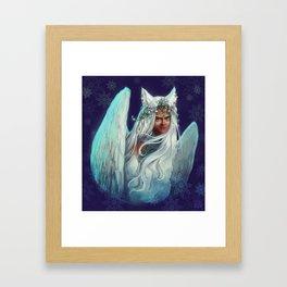 Snow Goddess Framed Art Print