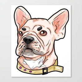 French Bulldog Dog Canvas Print