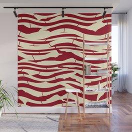 ZEBRA RED TTY N12 Wall Mural