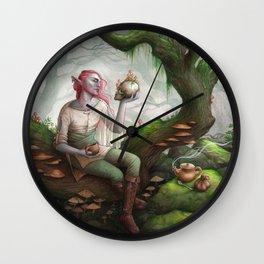 Caduceus Clay Wall Clock
