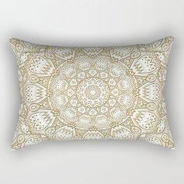 Golden Mandala in Cream Colored Background Rectangular Pillow
