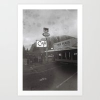 TWIN PEAKS CAFE Art Print