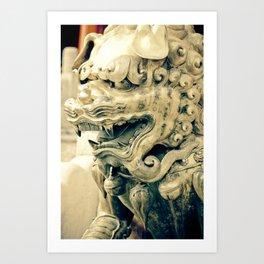 Beijing Bronze Lion Art Print