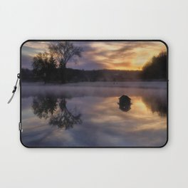 Early One Morning at the Pond Laptop Sleeve