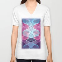 psychedelic V-neck T-shirts featuring Psychedelic by Scar Design