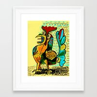 rooster Framed Art Prints featuring Rooster by Matt Vaillette