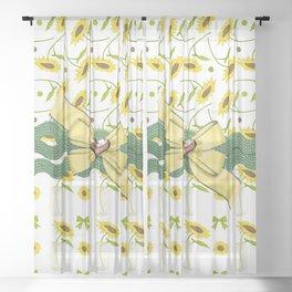 Sunny The Sunflowers Sheer Curtain
