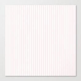 Light Soft Pastel Pink and White Mattress Ticking Canvas Print