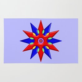 Shuriken Lotus Flower Rug
