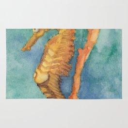 Watercolor Seahorse Rug