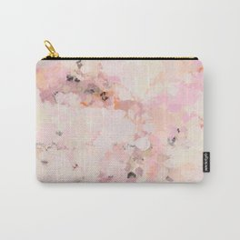 Abstract in Ivory Orange and Pink Carry-All Pouch