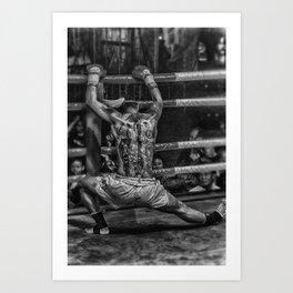 boxer monochrome Art Print