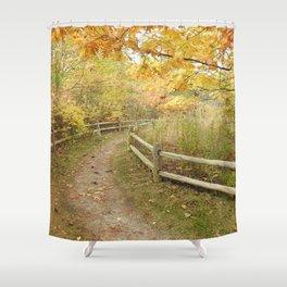 Autumn hikes Shower Curtain
