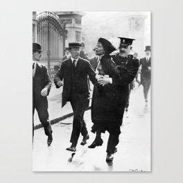 Suffragette Emmeline Pankhurst Being Arrested (May 1914) Canvas Print