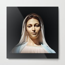 Our Lady of Tihaljina (Our Lady of Grace): In the Sun Light Metal Print
