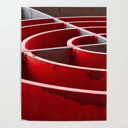 Curved in Red Poster