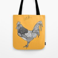cock Tote Bags featuring Cock by lush tart