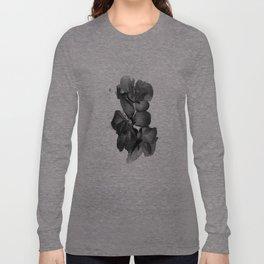 Black Geranium in White Long Sleeve T-shirt