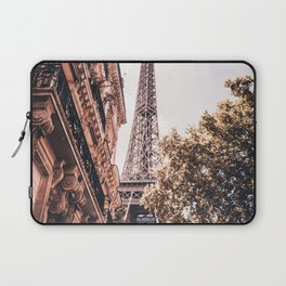 Paris Eifel Tower Pink photography in HD Laptop Sleeve