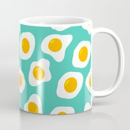 Eggs Pattern (Turquoise Color Background) Coffee Mug