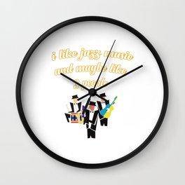 I Like Jazz Music Wall Clock