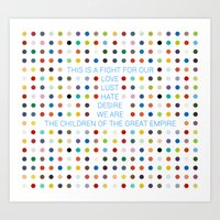 30 seconds to mars Art Prints featuring Thirty Seconds To Mars ; Conquistador by Wis Marvin